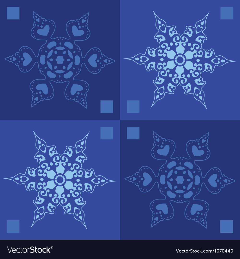 Seamless snowflakes winter background vector | Price: 1 Credit (USD $1)