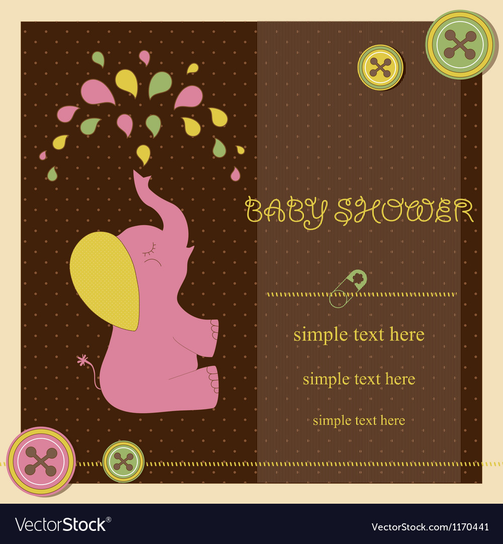 Baby shower - girl vector | Price: 1 Credit (USD $1)
