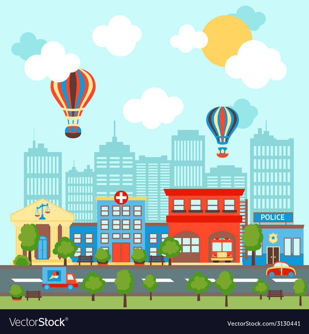 City scape background vector | Price: 1 Credit (USD $1)