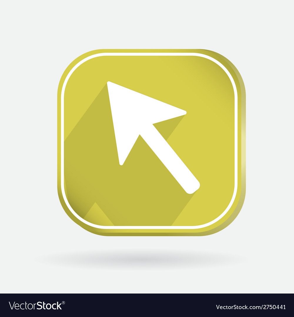 Color icon with shadow web arrow vector | Price: 1 Credit (USD $1)