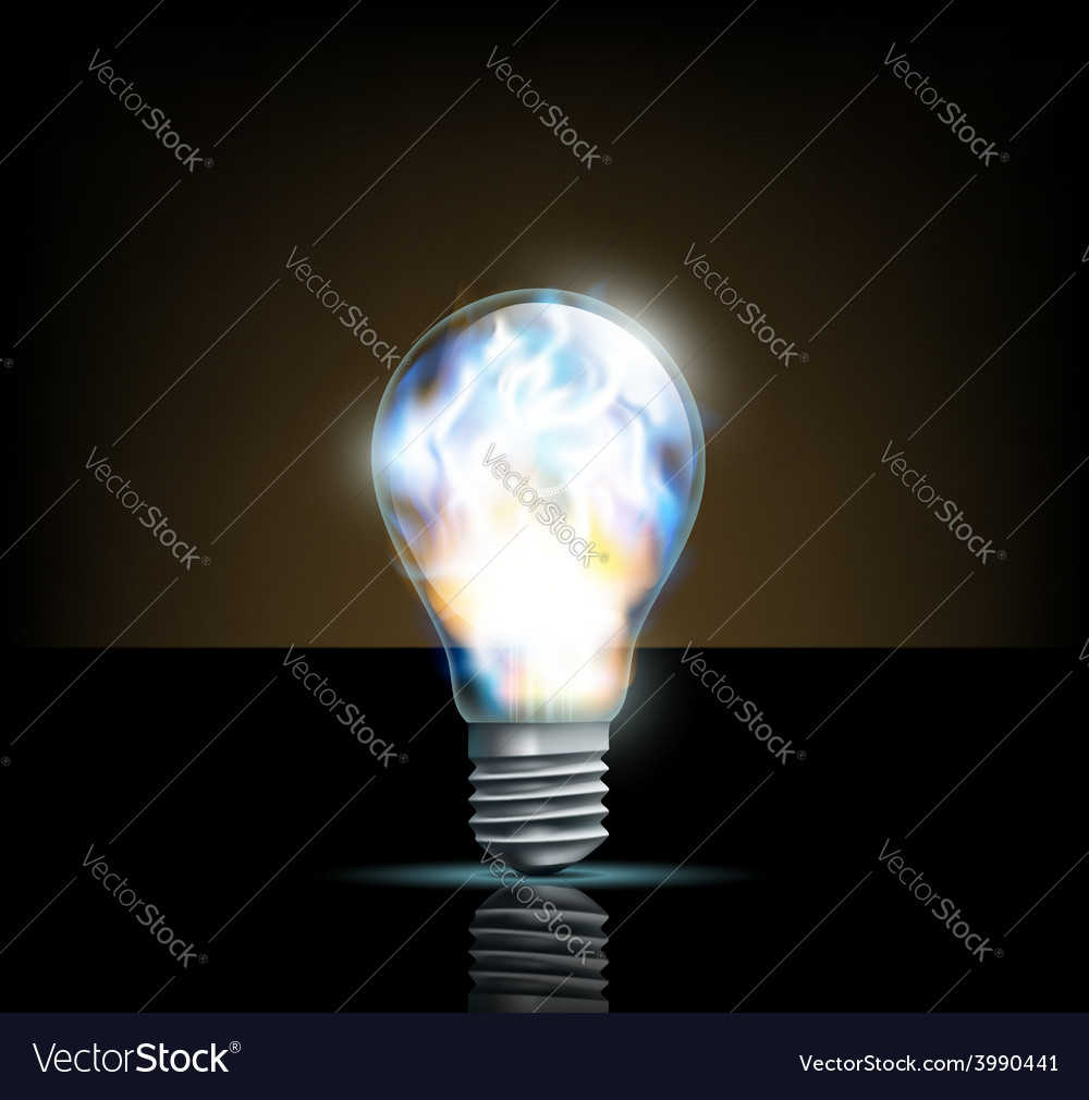 Glowing filament lamp on a dark background vector   Price: 1 Credit (USD $1)