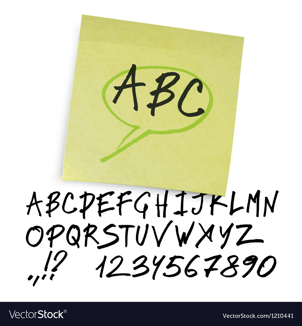 Marker alphabet uppercase vector | Price: 1 Credit (USD $1)