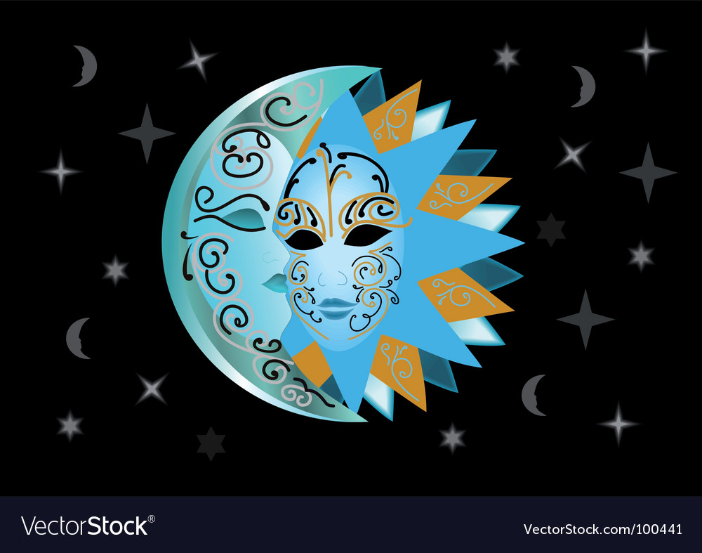 Illustration of sun and moon vector | Price: 1 Credit (USD $1)