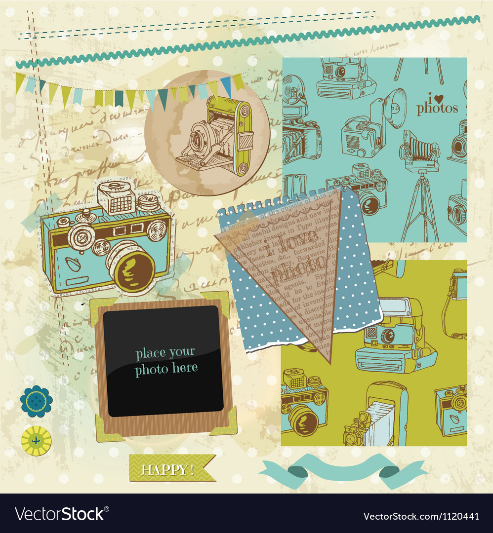 Scrapbook design elements - vintage photo camera vector | Price: 1 Credit (USD $1)