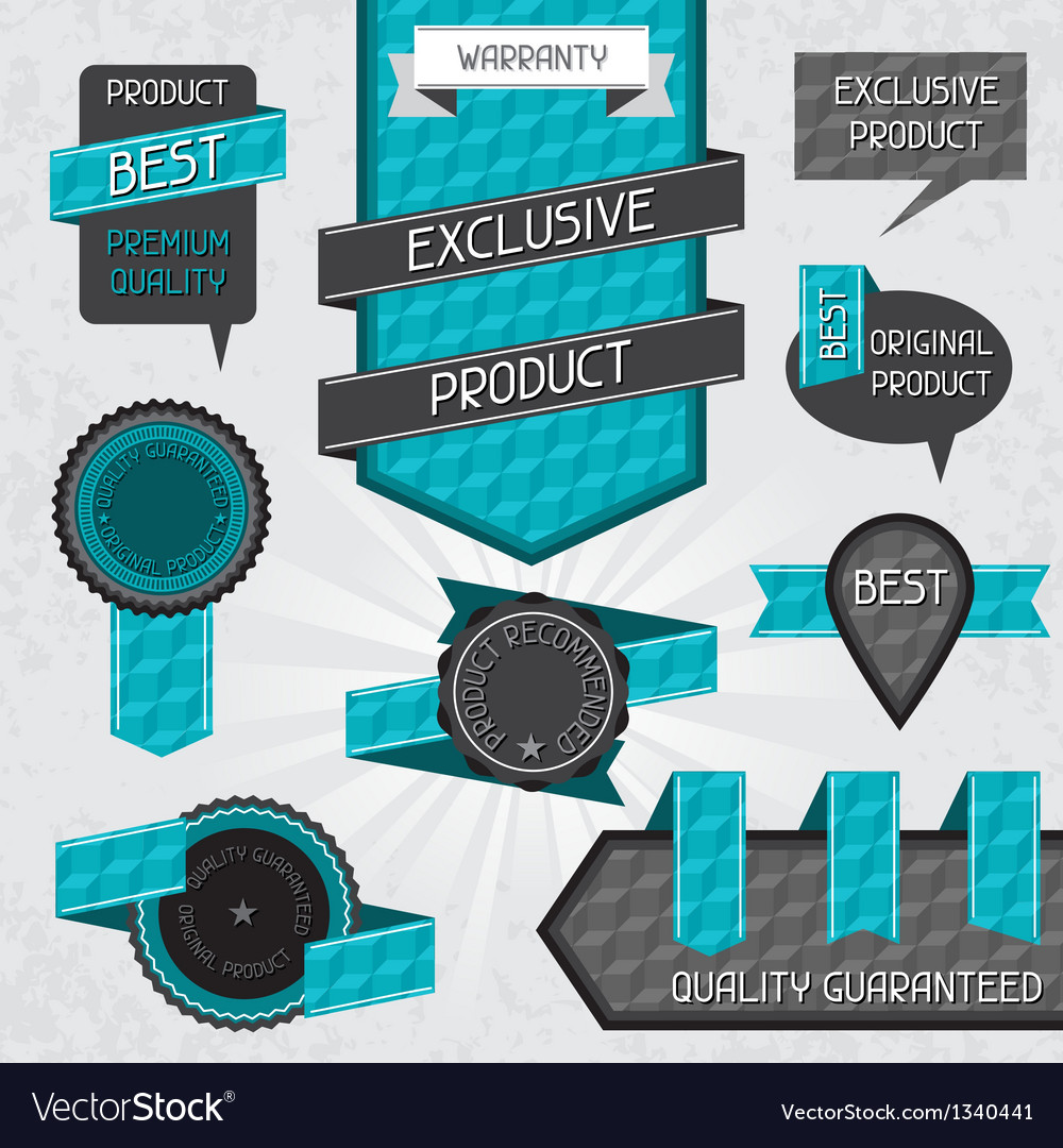 Set of premium quality labels and stickers vector | Price: 1 Credit (USD $1)