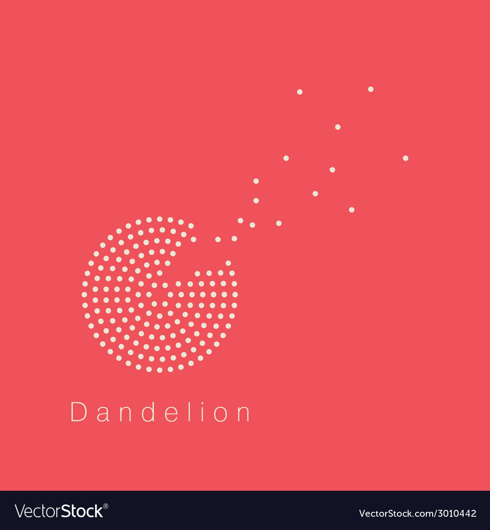 Dandelion logo vector | Price: 1 Credit (USD $1)