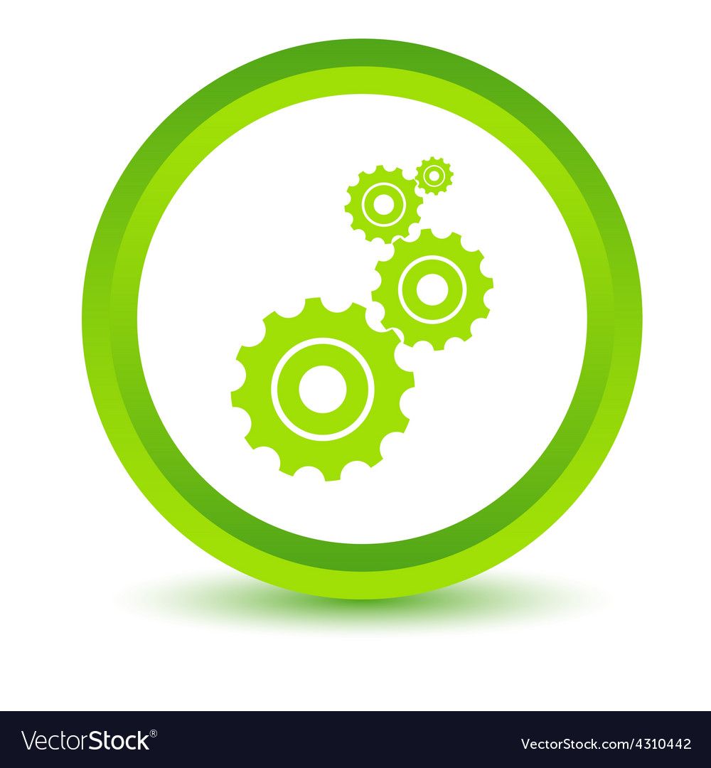 Green mechanism icon vector | Price: 1 Credit (USD $1)