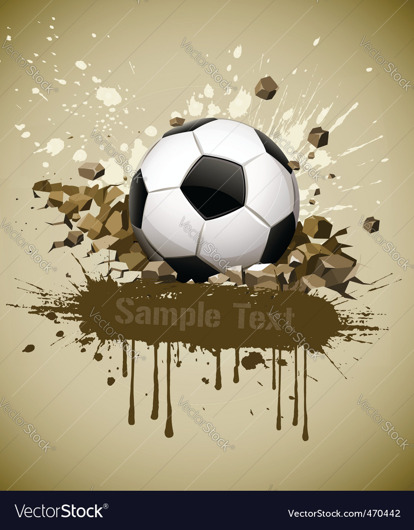 Grunge football soccer ball vector | Price: 1 Credit (USD $1)