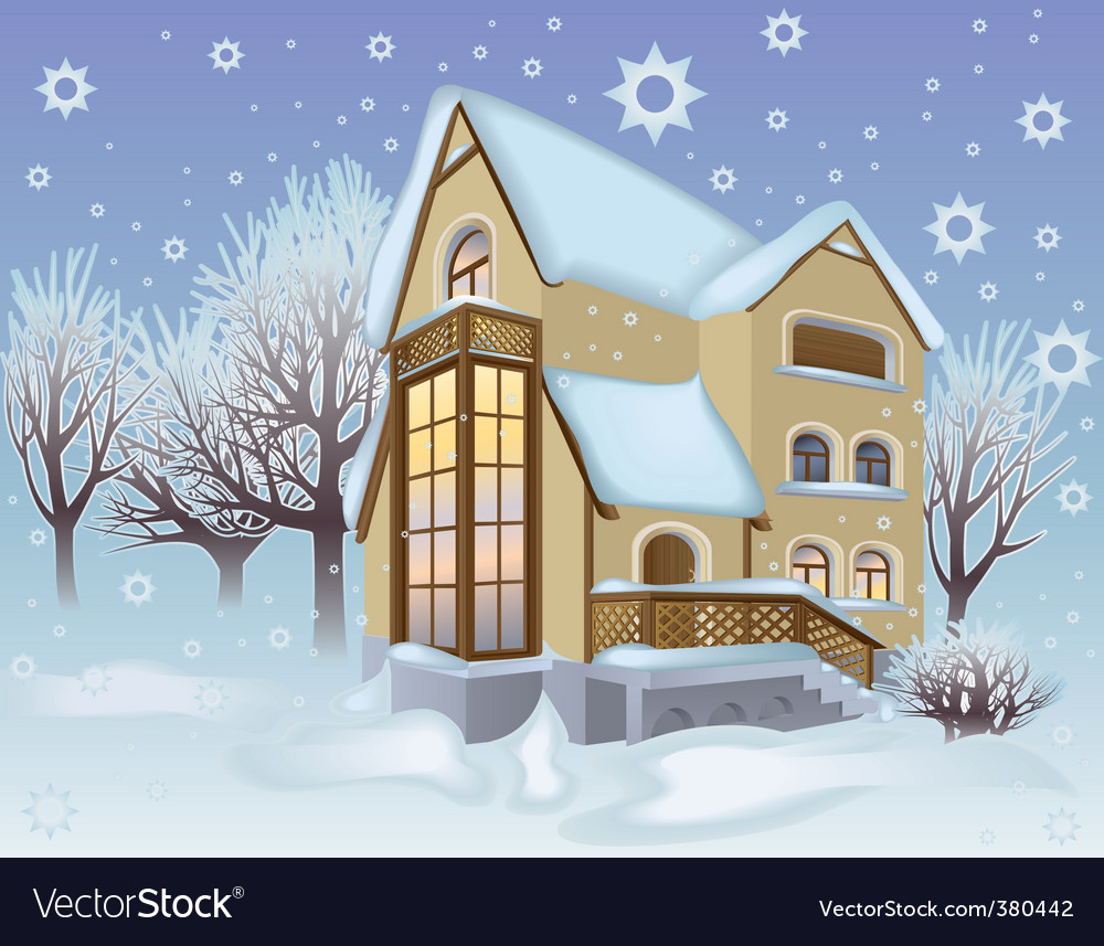 House and garden vector | Price: 3 Credit (USD $3)