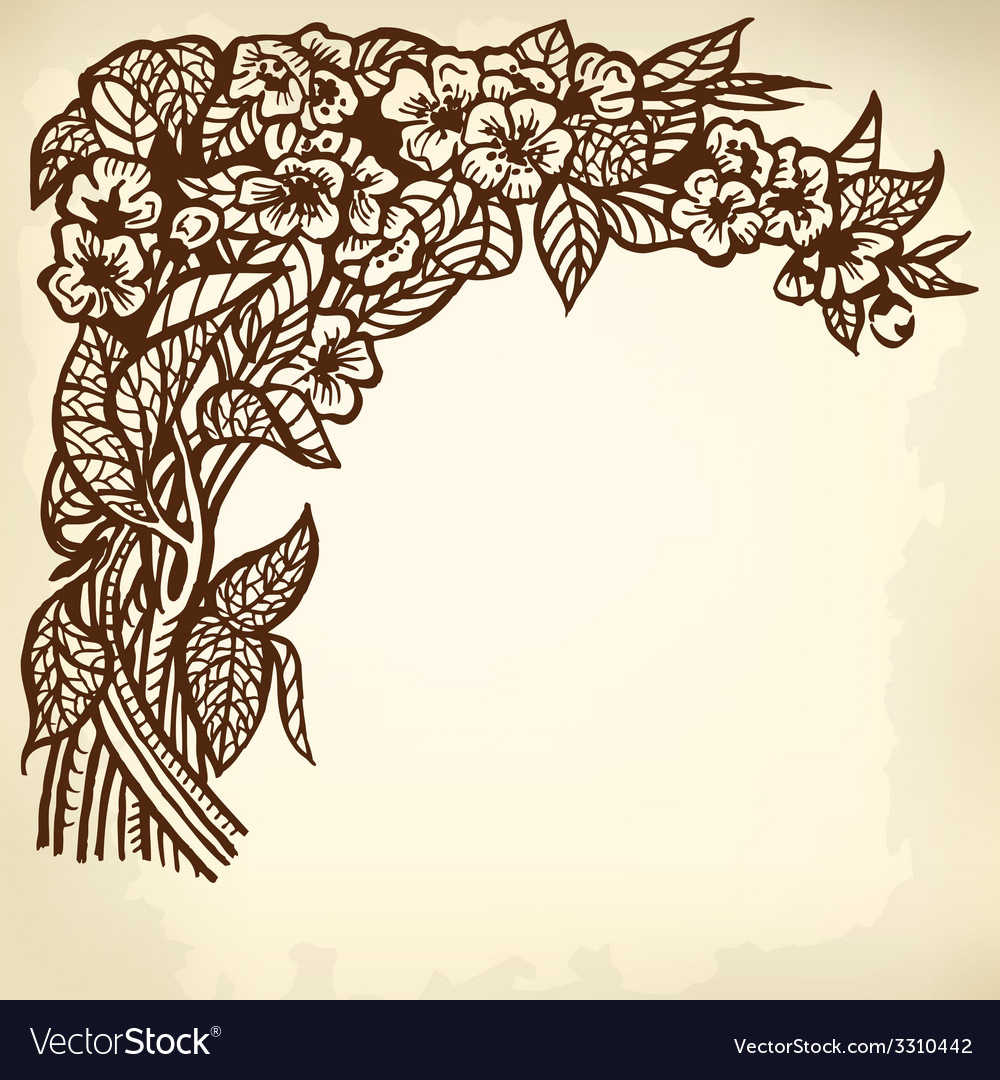 Jasmine branch vector | Price: 1 Credit (USD $1)