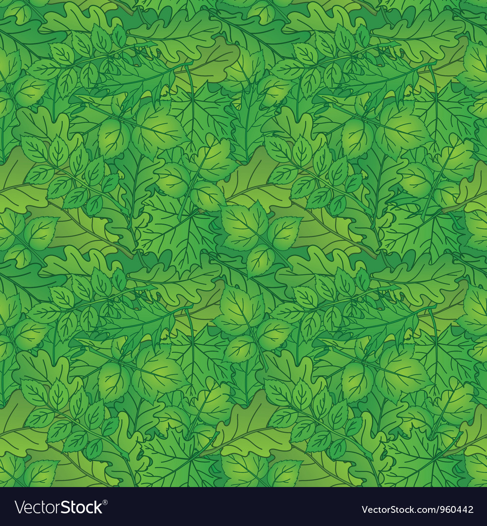Leaves of plants seamless summer vector | Price: 1 Credit (USD $1)