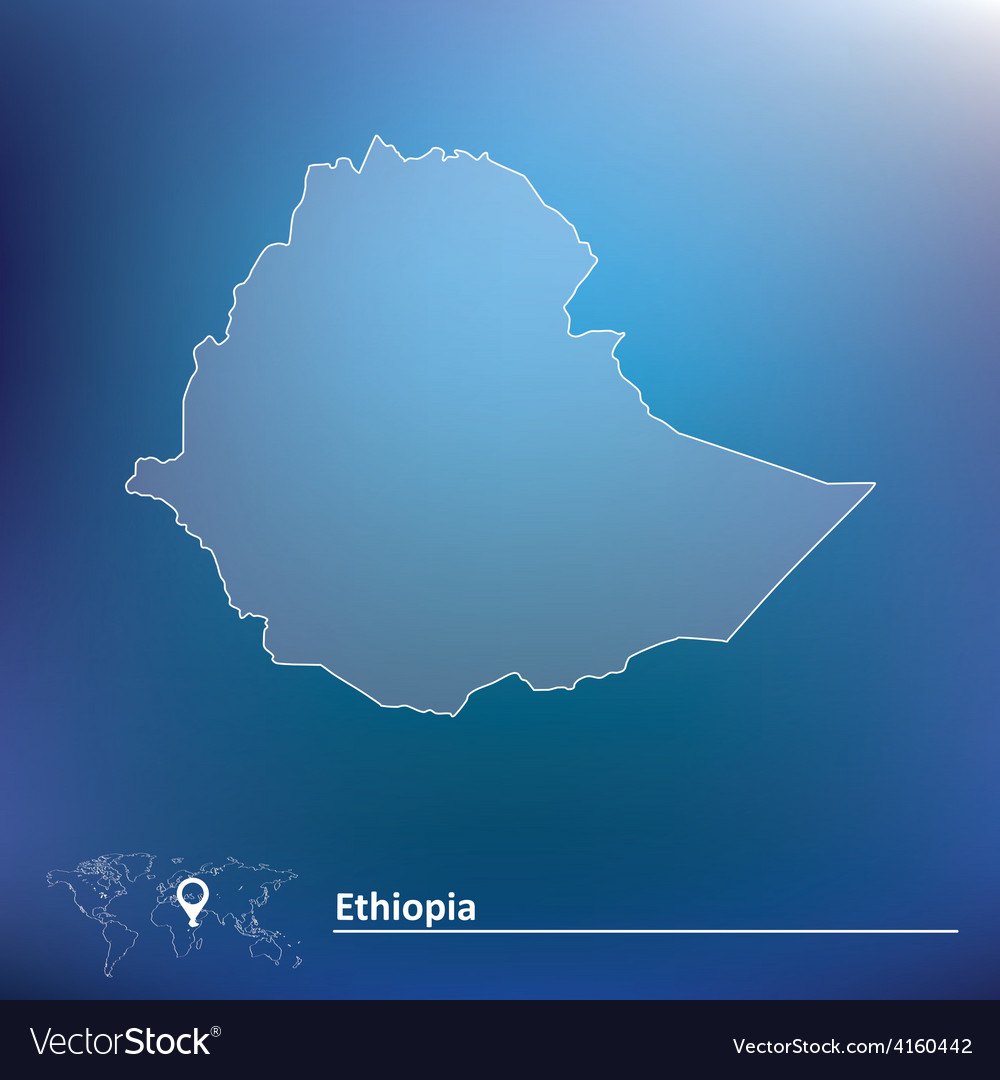 Map of ethiopia vector | Price: 1 Credit (USD $1)