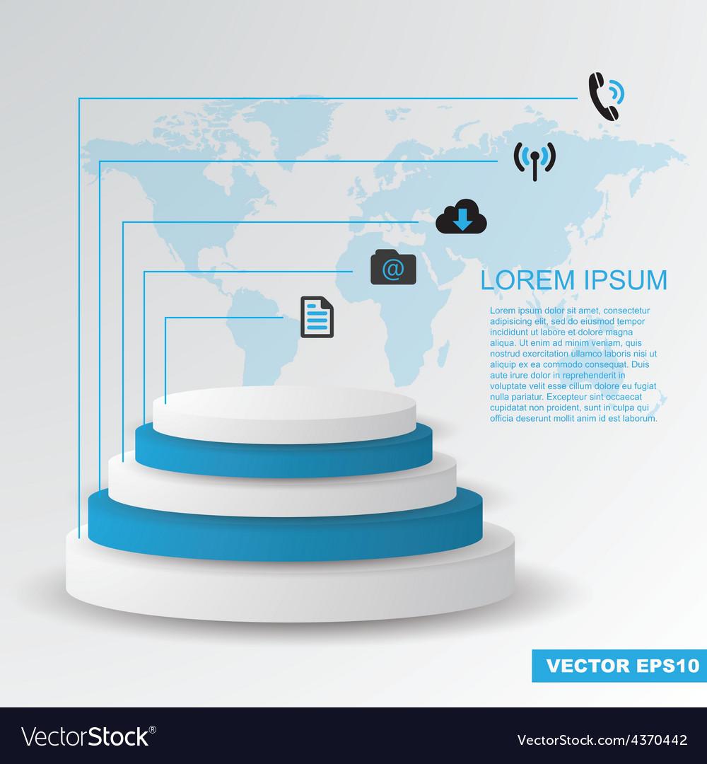 Modern flat design infographics elements vector | Price: 1 Credit (USD $1)