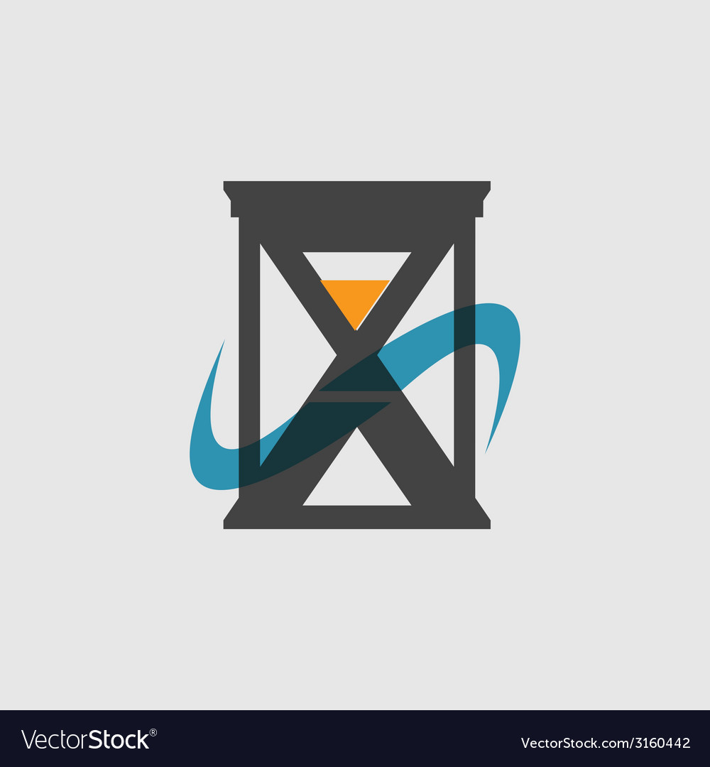 Modern flat icon of hourglasses vector | Price: 1 Credit (USD $1)