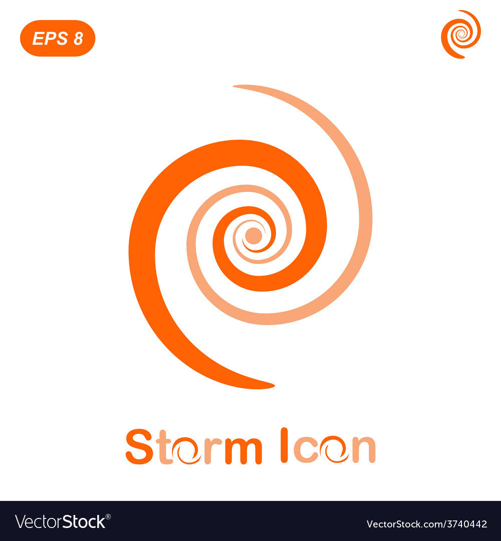 Storm spiral concept vector | Price: 1 Credit (USD $1)