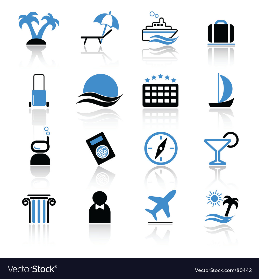 Travel icons vector | Price: 1 Credit (USD $1)