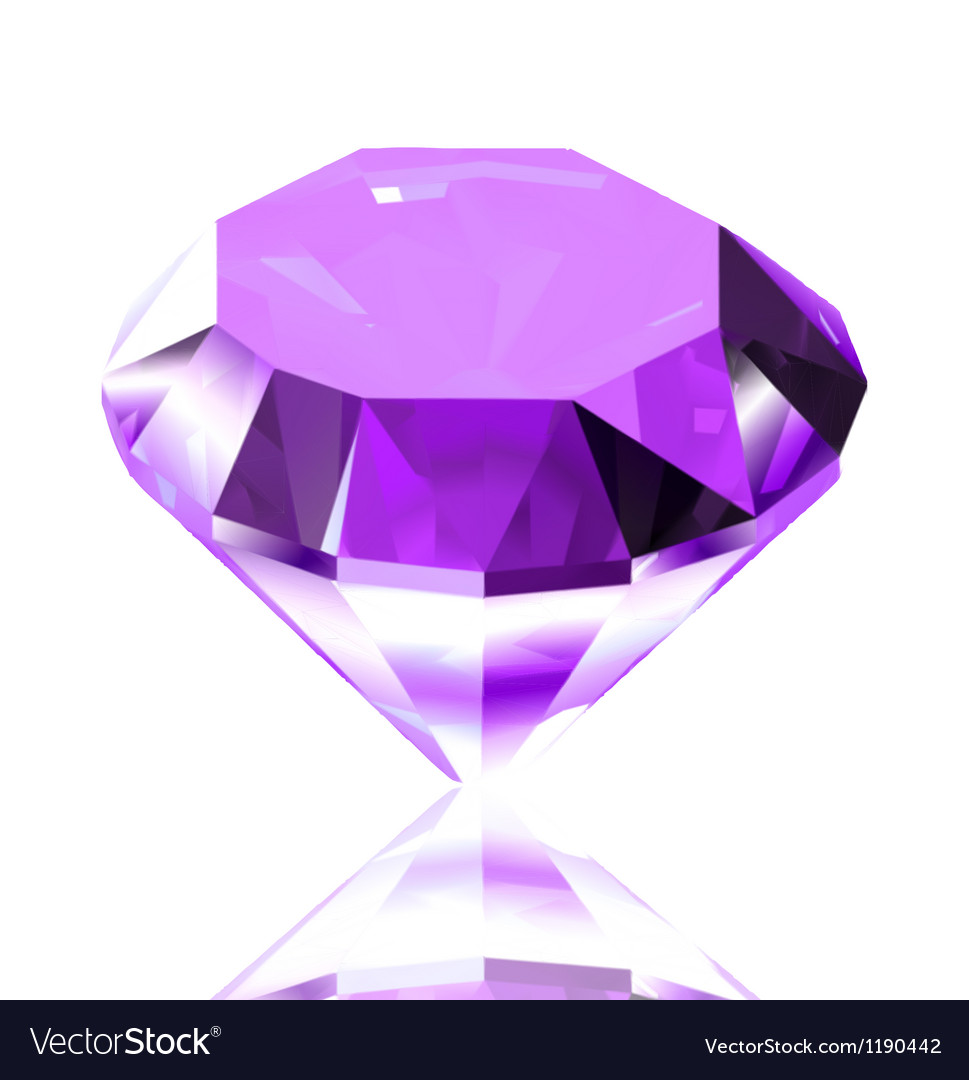Violet diamond vector | Price: 1 Credit (USD $1)