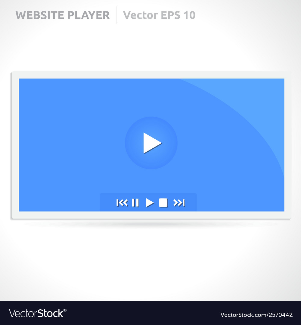 Website video player vector | Price: 1 Credit (USD $1)