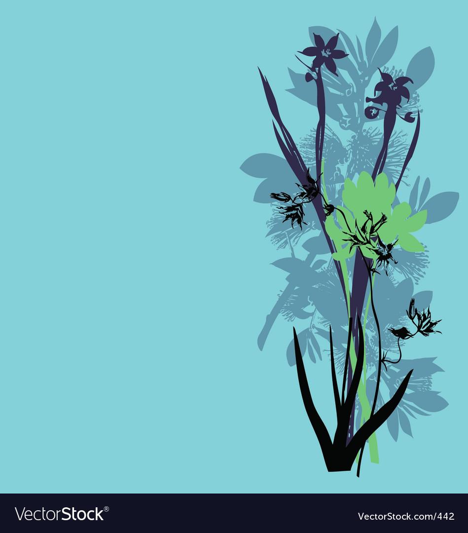 Wild flowers vector | Price: 3 Credit (USD $3)