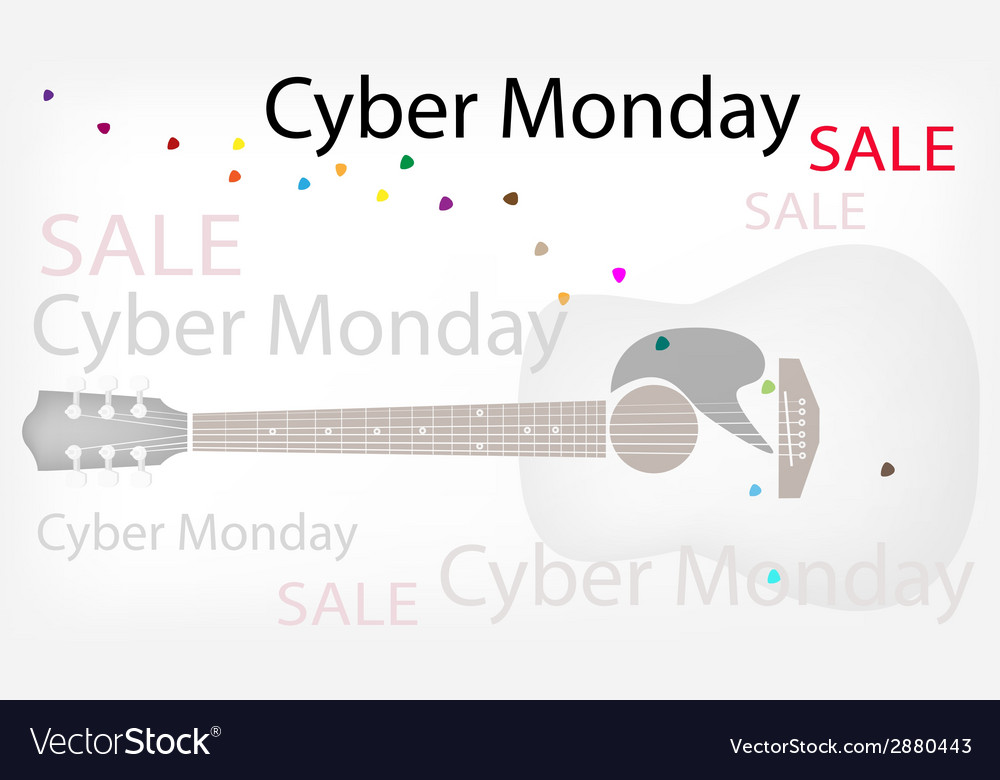 Acoustic guitars background of for cyber monday vector | Price: 1 Credit (USD $1)