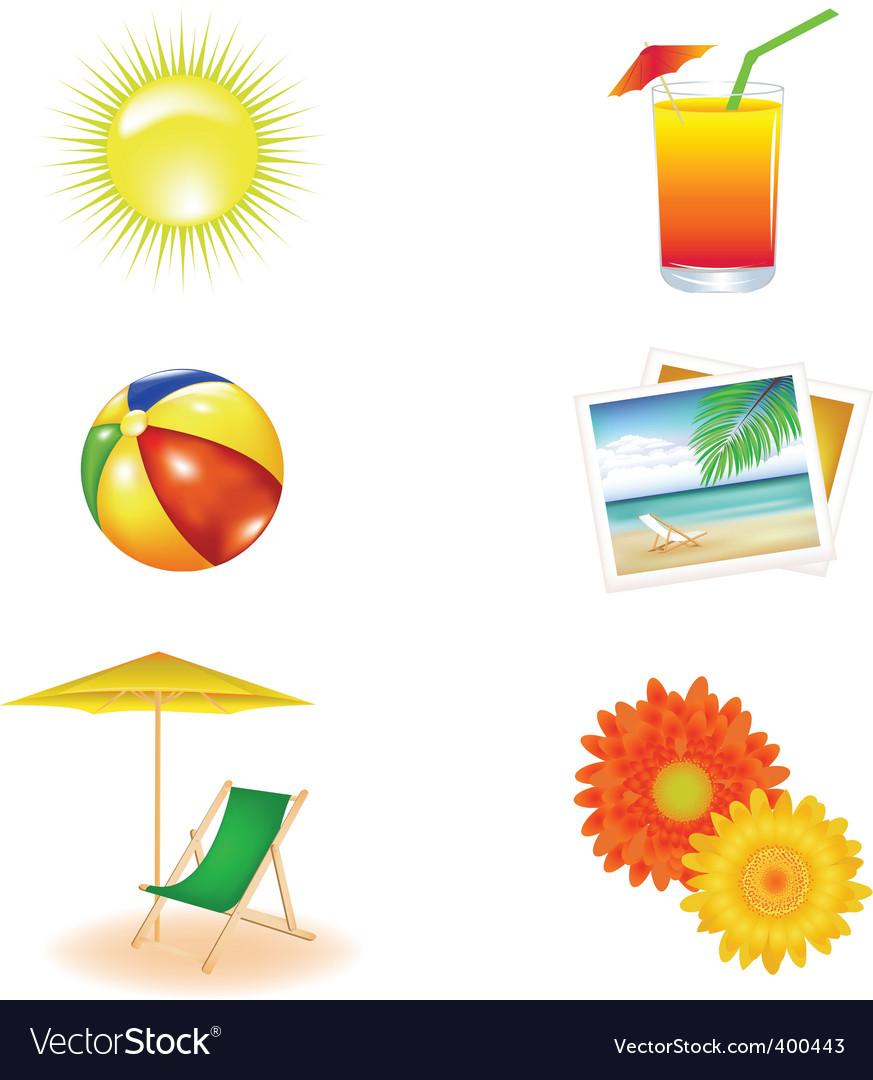 Beach icons vector   Price: 1 Credit (USD $1)