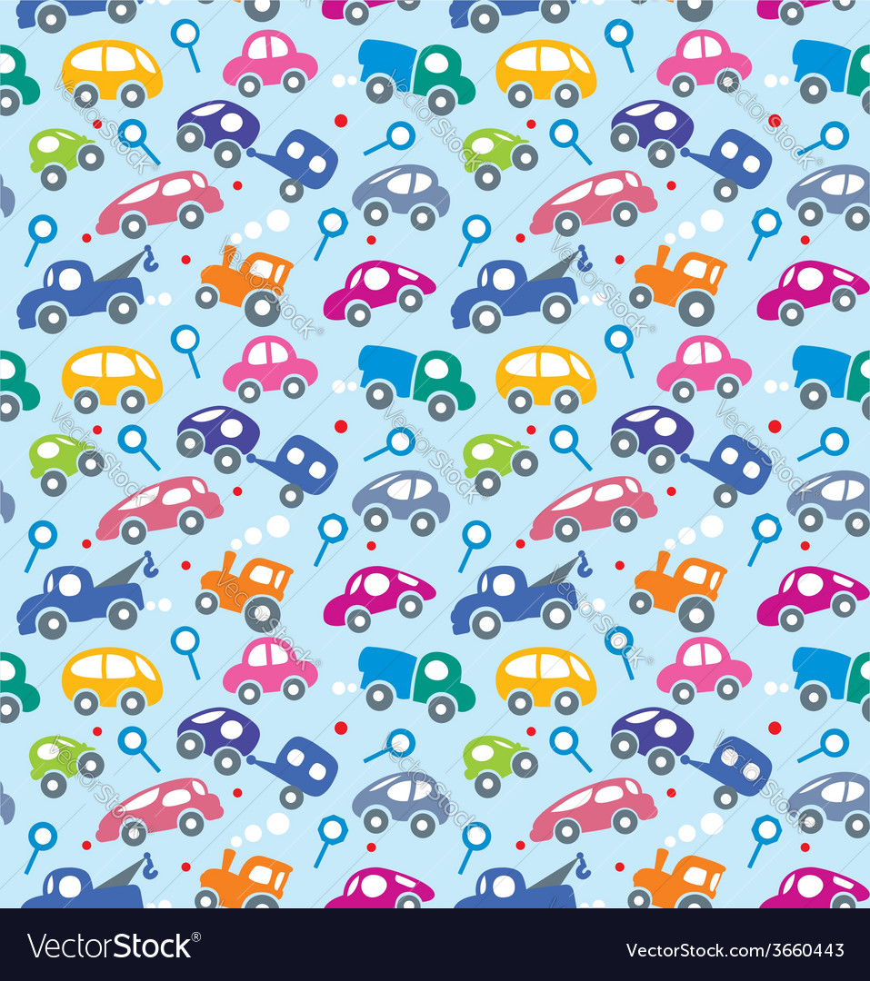 Cars seamless pattern vector   Price: 1 Credit (USD $1)