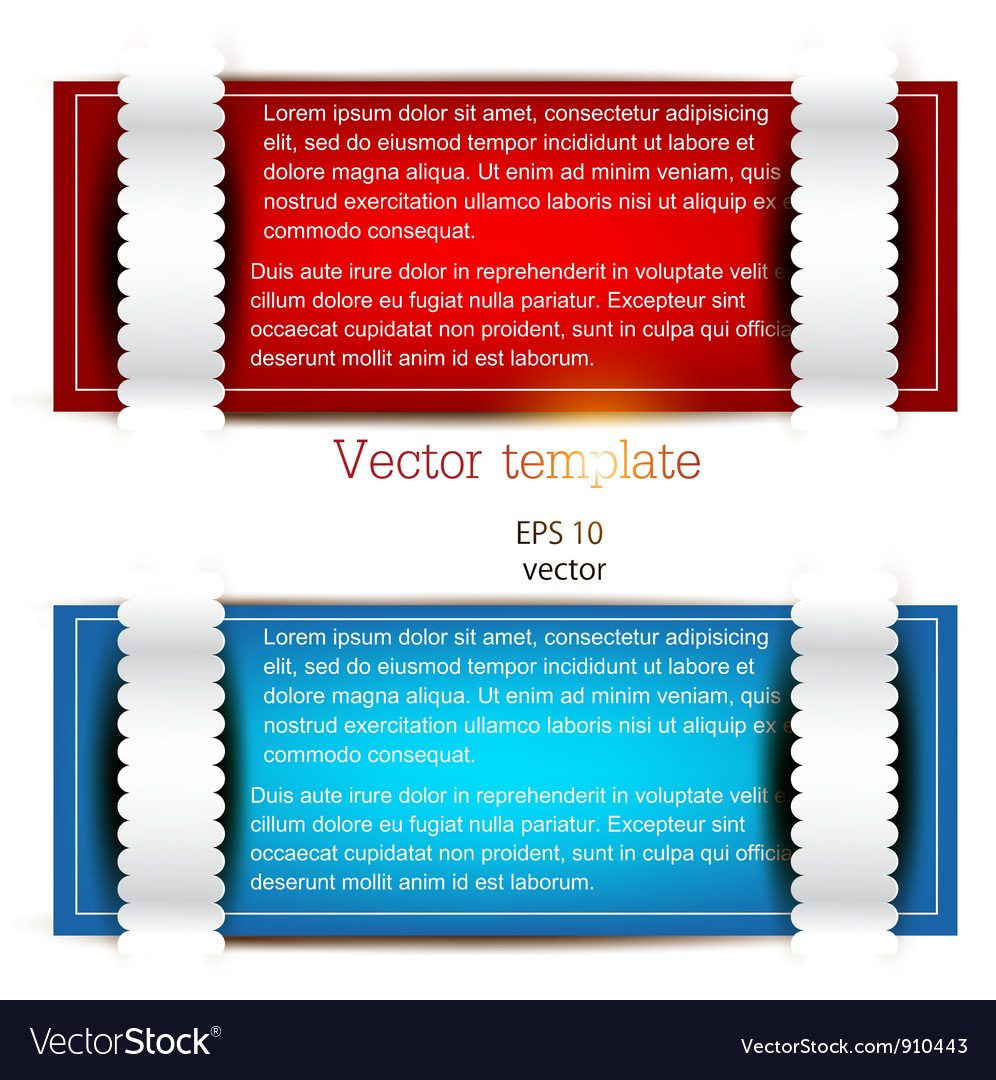 Colorful bookmarks for text red and blue paper vector | Price: 1 Credit (USD $1)