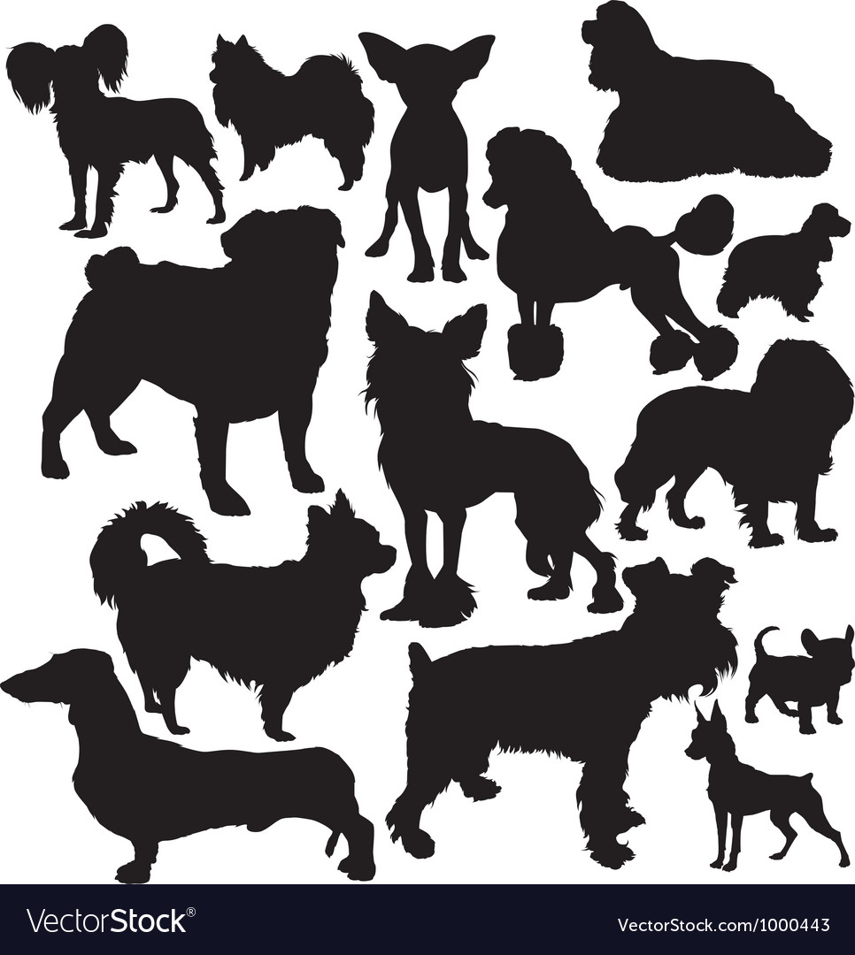 Decorative dogs vector | Price: 1 Credit (USD $1)
