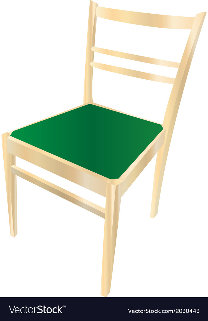 Dining chair with gradient vector | Price: 1 Credit (USD $1)