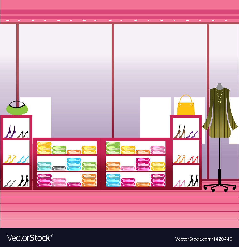 Fashion boutique interior vector | Price: 1 Credit (USD $1)