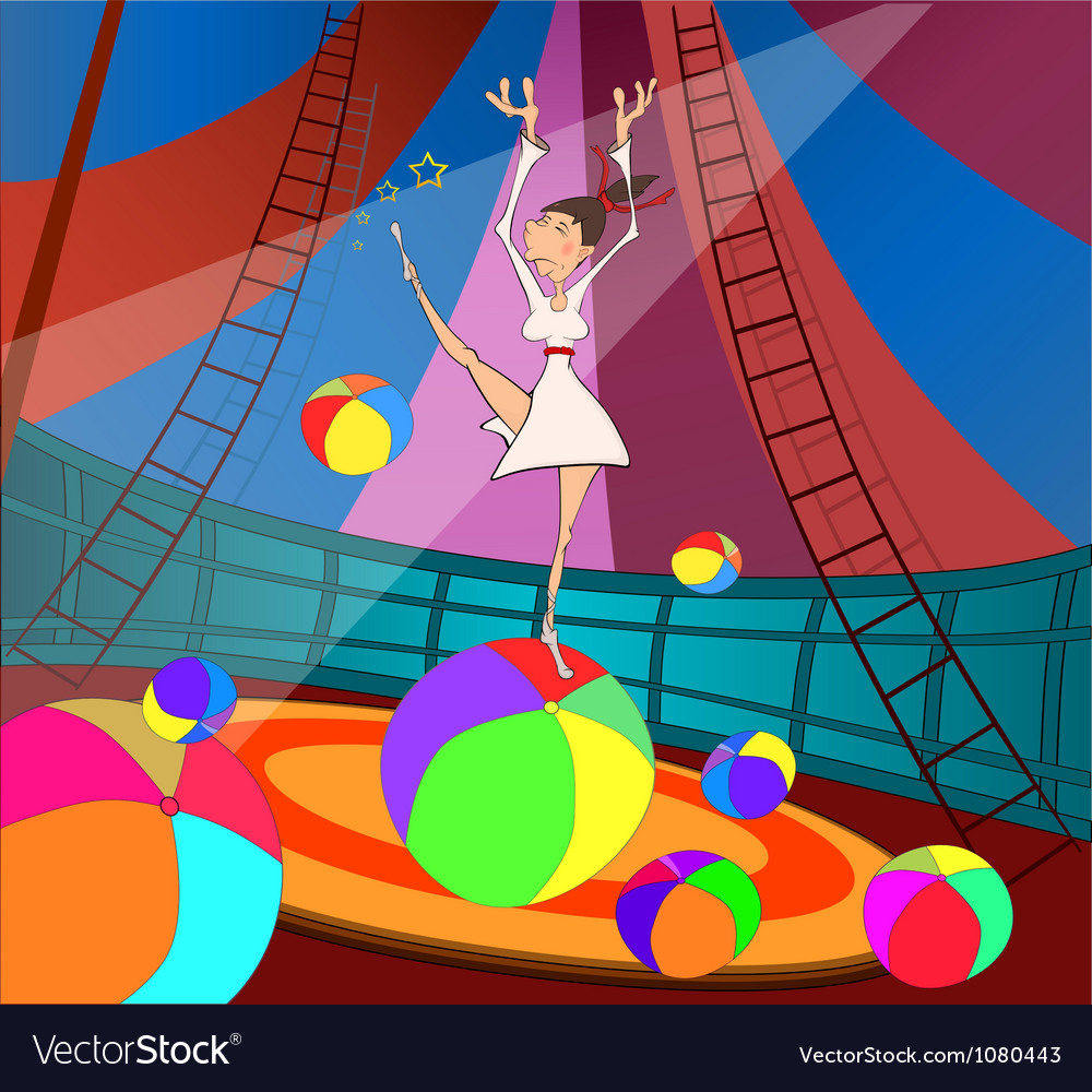 The gymnast and circus vector | Price: 1 Credit (USD $1)