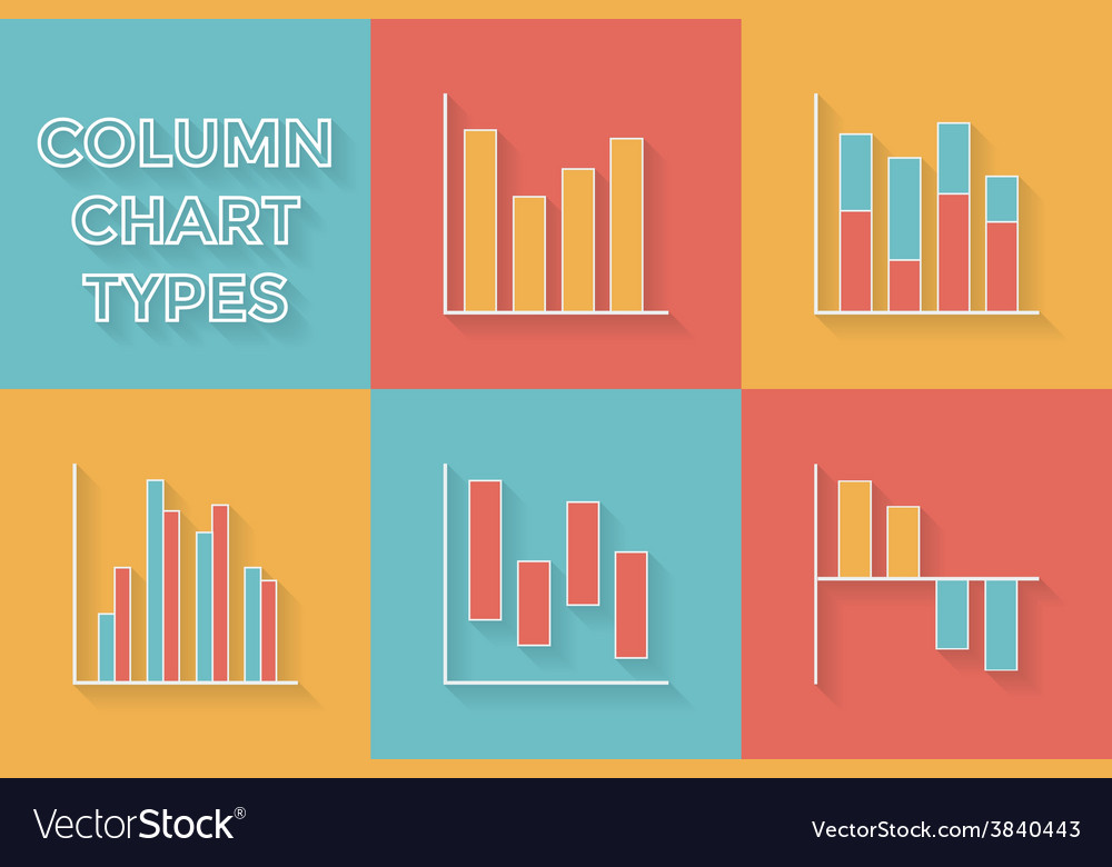 Icons in flat style graph types - set of vector | Price: 1 Credit (USD $1)