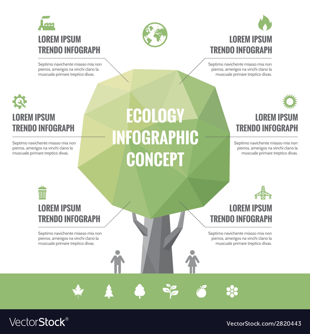 Infographic business concept of ecology vector | Price: 1 Credit (USD $1)