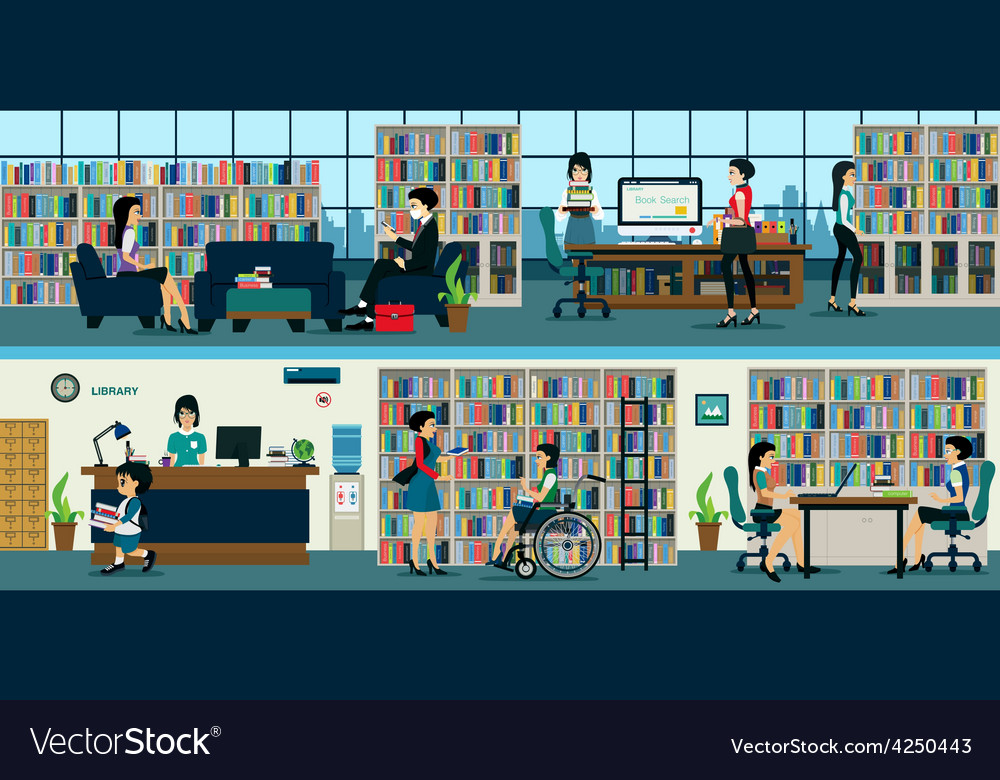 Library vector | Price: 1 Credit (USD $1)