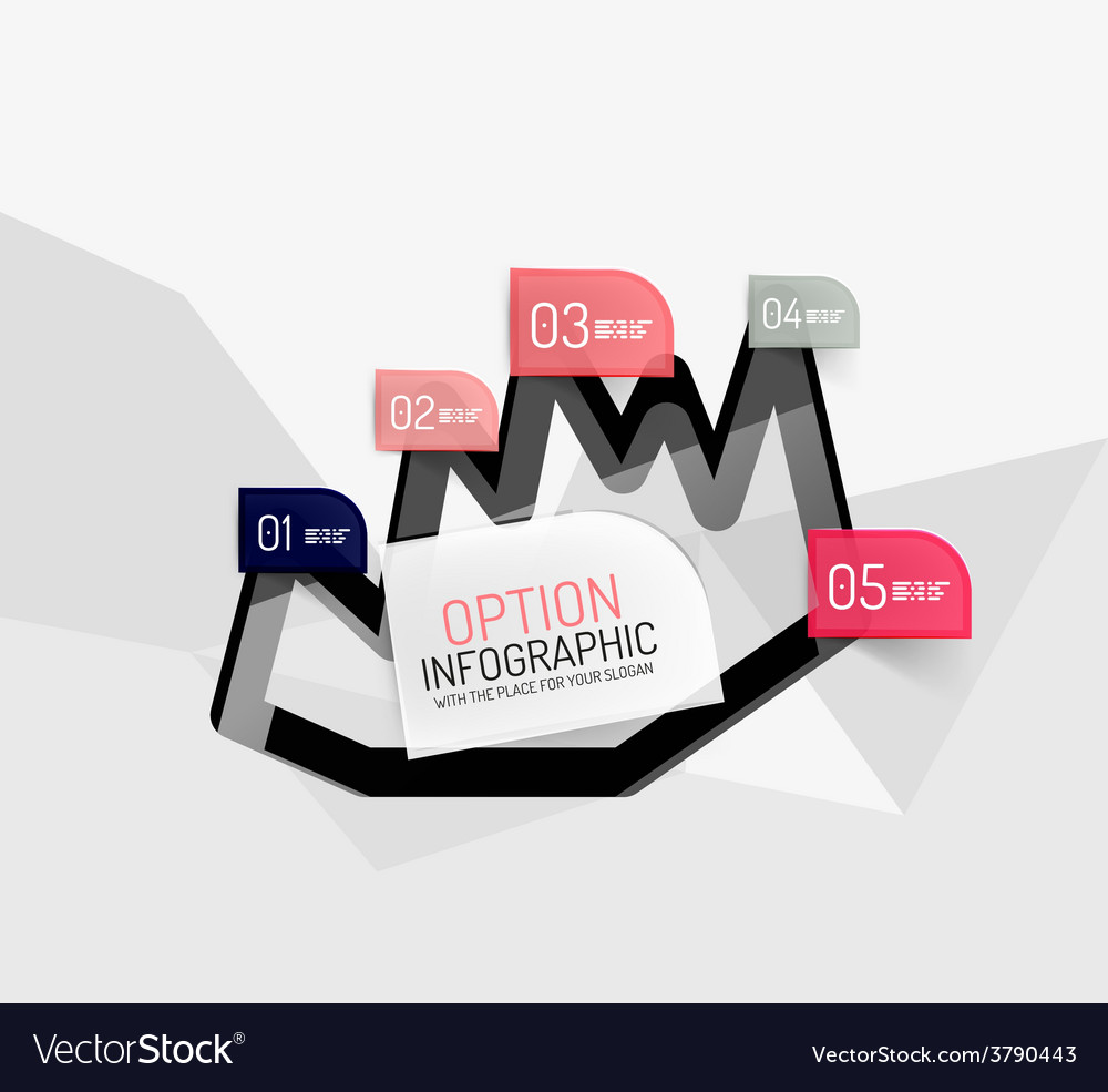 Modern abstract business geometric infographics vector   Price: 1 Credit (USD $1)