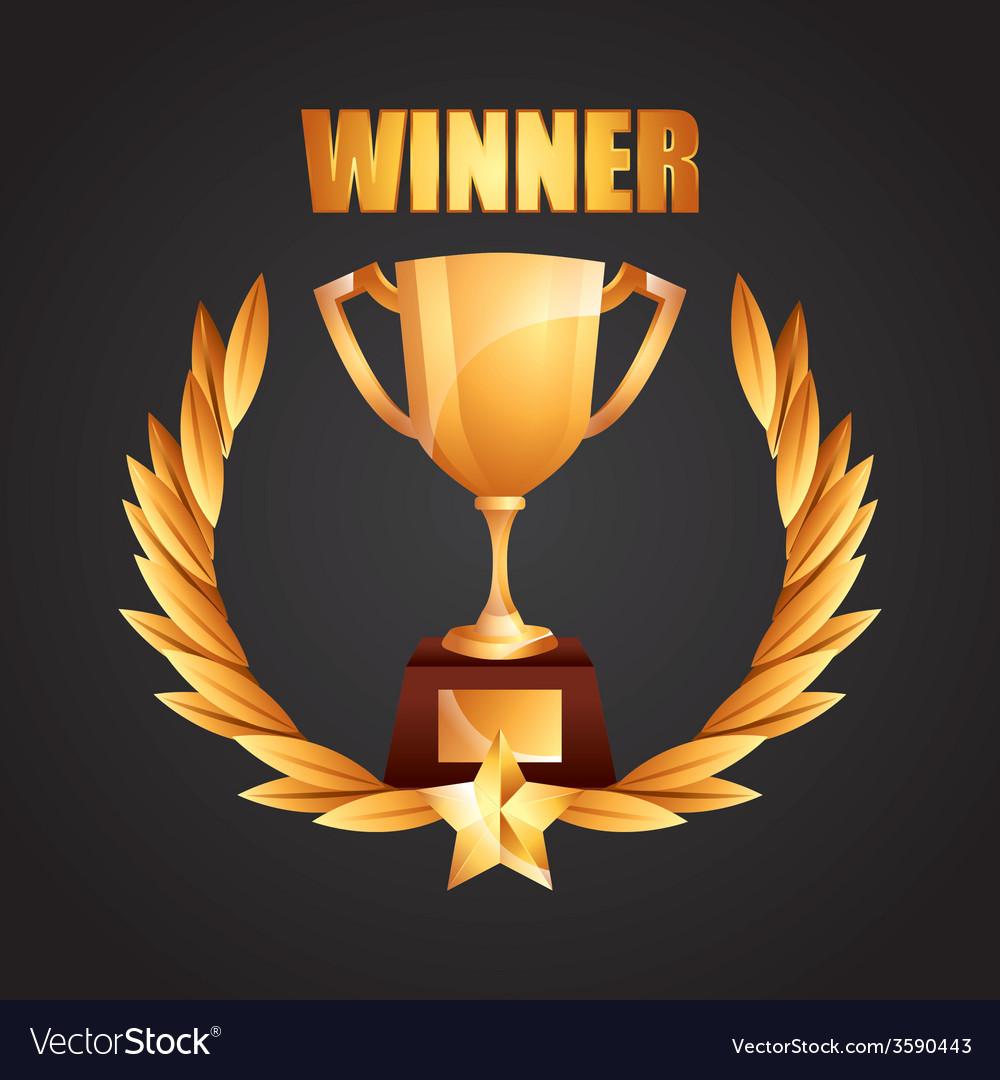 Winner icon vector | Price: 1 Credit (USD $1)