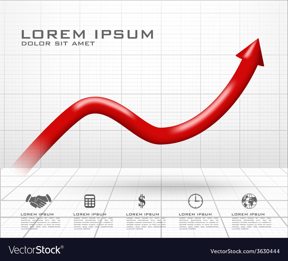 Arrow up dimensional graph vector   Price: 1 Credit (USD $1)