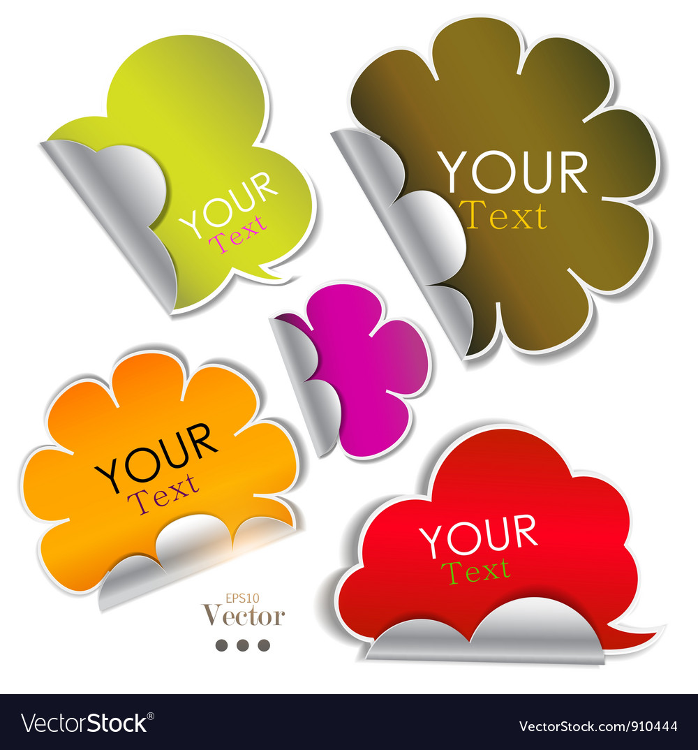 Colorful stickers and bubbles for speech vector   Price: 1 Credit (USD $1)