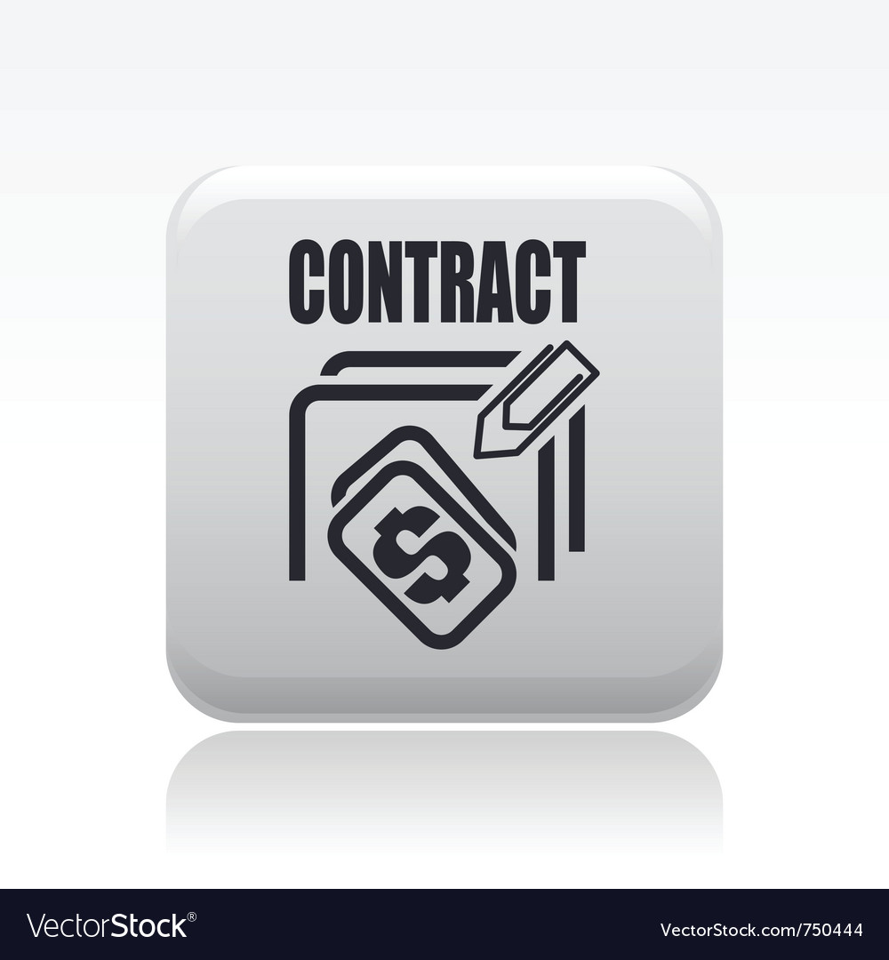 Contract icon vector | Price: 1 Credit (USD $1)