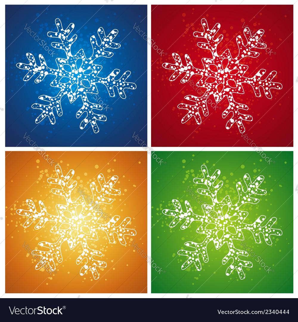 Four christmas snowflake vector | Price: 1 Credit (USD $1)