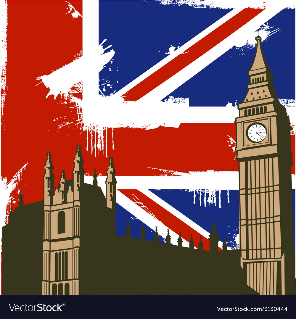 Grunge british background vector | Price: 1 Credit (USD $1)