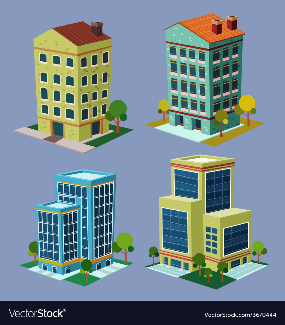 Isometric building 3 vector | Price: 3 Credit (USD $3)