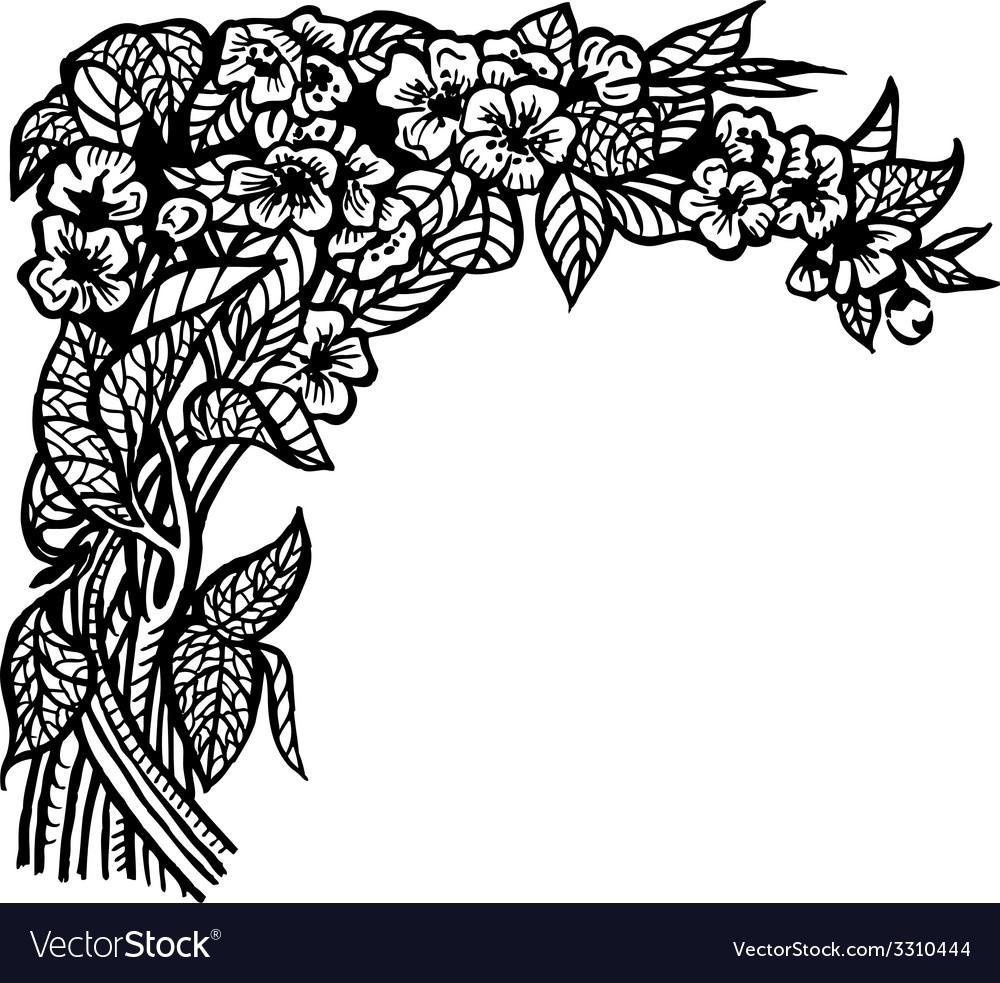 Jasmine branch vector | Price: 1 Credit (USD $1)