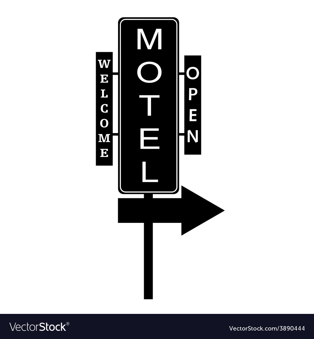 Motel signboard vector | Price: 1 Credit (USD $1)