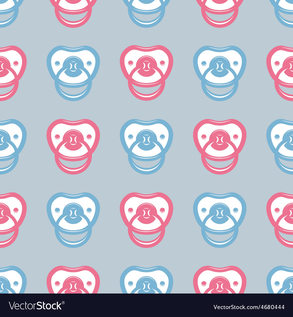Pacifier pattern vector | Price: 1 Credit (USD $1)