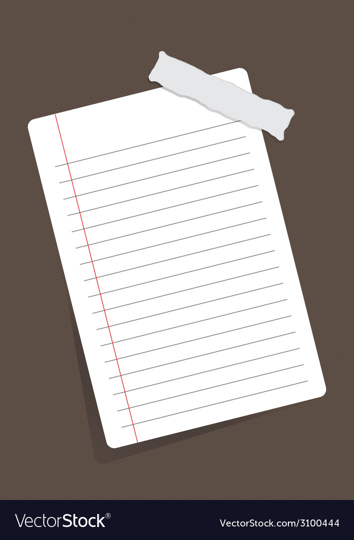 Sheet of paper stuck with sticker vector | Price: 1 Credit (USD $1)