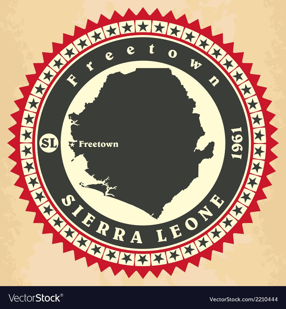 Vintage label-sticker cards of sierra leone vector | Price: 1 Credit (USD $1)