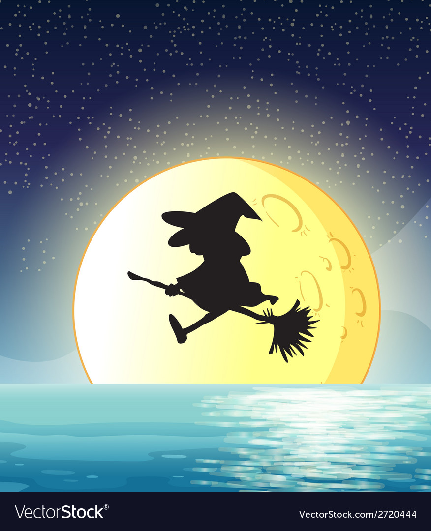 Witch flying vector | Price: 1 Credit (USD $1)