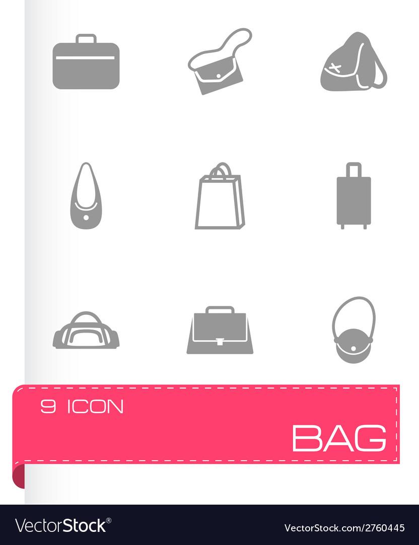 Black bag icons set vector | Price: 1 Credit (USD $1)