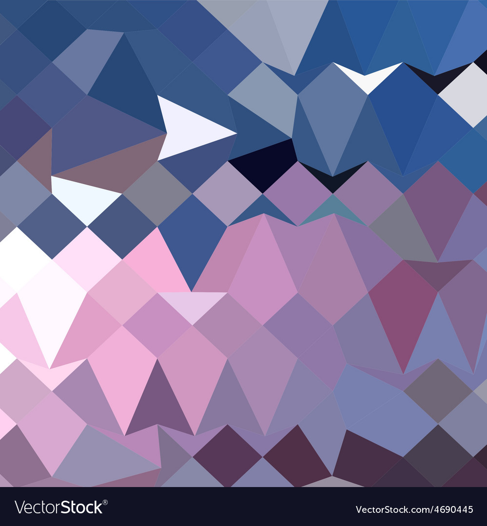 Celestial blue abstract low polygon background vector | Price: 1 Credit (USD $1)